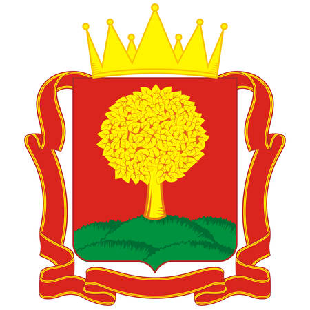 Coat of arms of Lipetsk Oblast is a federal subject of Russia. Vector illustration 矢量图像