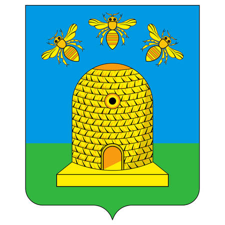 Coat of arms of Tambov is a city and the administrative center of Tambov Oblast, central Russia. Vector illustration