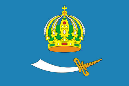 Flag of Astrakhan Oblast is a federal subject of Russia located in southern Russia. Vector illustration