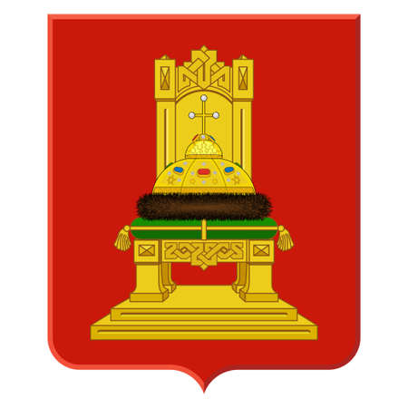 Coat of arms of Smolensk Oblast is a federal subject of Russia. Illustration