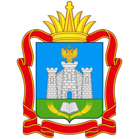 Coat of arms of Smolensk Oblast is a federal subject of Russia. Vector illustration