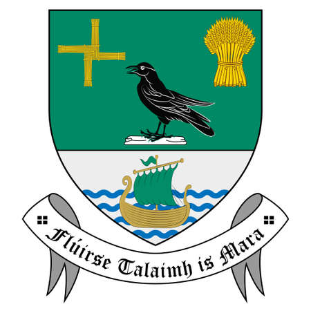 Coat of arms of County Sligo is a county in Ireland. Vector illustration