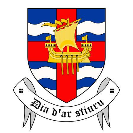 Coat of arms of County Sligo is a county in Ireland. Vector illustration Vettoriali