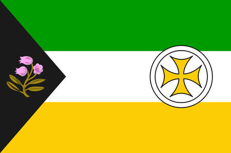 Flag of County Clare is a county in Ireland, in the Mid-West Region and the province of Munster. Vector illustration