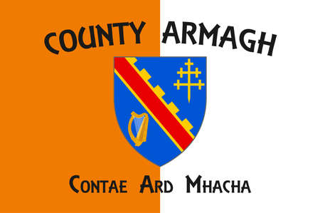Flag of County Donegal is a county of Ireland in the province of Ulster. Vector illustration Vettoriali