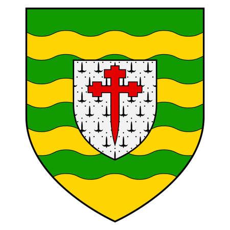 Flag of Killarney is a town in County Kerry, southwestern Ireland. Vector illustration Vektoros illusztráció