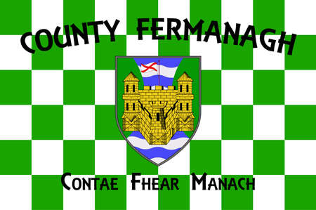Flag of County Londonderry is one of the six counties of Northern Ireland. Vector illustration