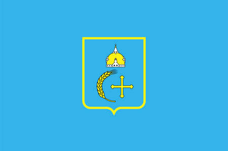 Flag of Sumy Oblast is an province in the northeastern part of Ukraine. Vector illustration