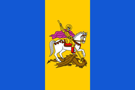 Flag of Kyiv Oblast is an province in central Ukraine. Vector illustration Ilustrace