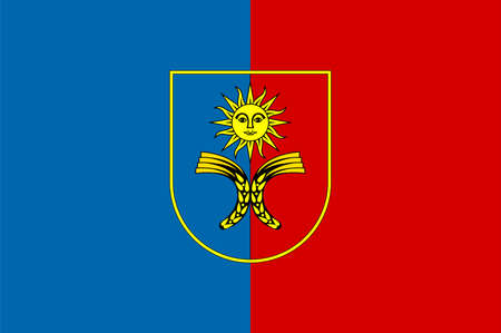 Flag of Khmelnytskyi Oblast is an province of western Ukraine. Vector illustration