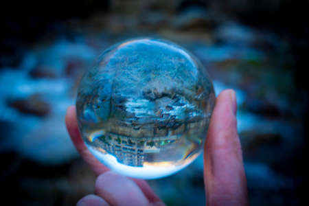 Nature lensball view