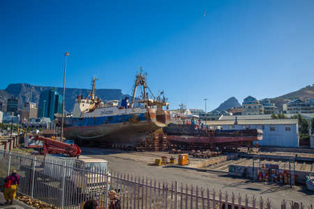 capetown: South Africa - Cape Town Waterfront Alfred & Victoria Wharf Editorial