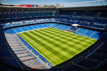 real madrid: Santiago Bernabeu Stadium of Real Madrid on May 2015 Editorial