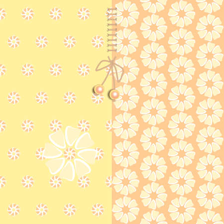 Simple patterns in the set.Seamless pattern. Beads with lace. For children's bed linen, kitchen linen.