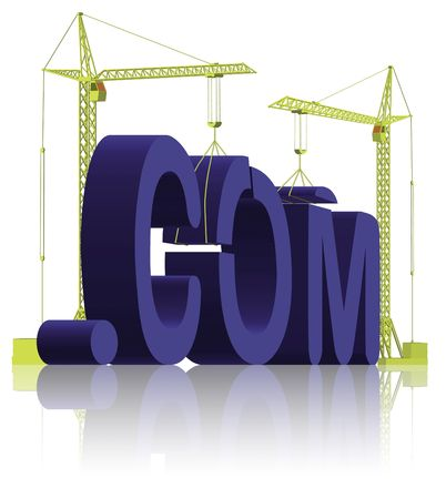 create idea: tower cranes building website WWW 3D word