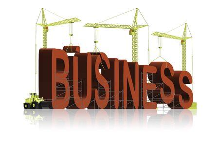 company, tower cranes constructing 3d word Stock Photo - 6542744