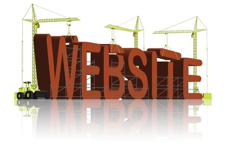 tower cranes creating 3D word Stock Photo - 6542741