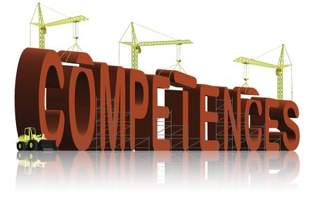 competent: built your competences Stock Photo