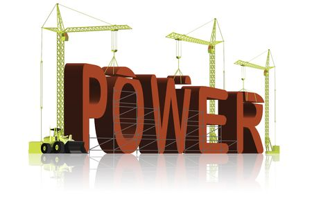 tower cranes creating 3D word Stock Photo - 6550467