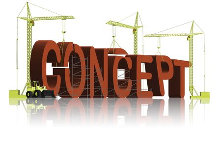 tower cranes creating 3D word Stock Photo - 6550487