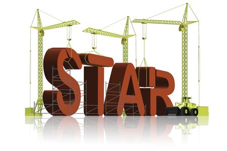 making a star Stock Photo - 6550473
