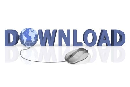 mouse click to download 3D word with globe incorporated photo