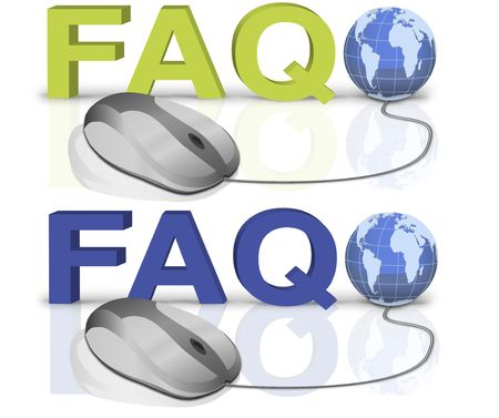 one mouse click to faq Stock Photo - 6583758