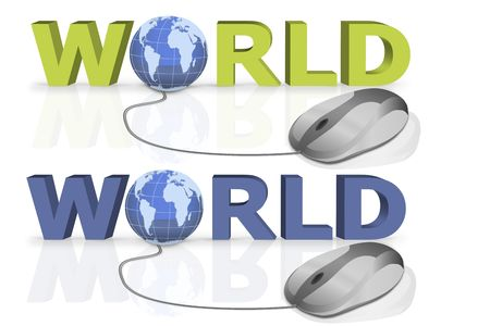 world wide search by a single mouse click Stock Photo - 6591131