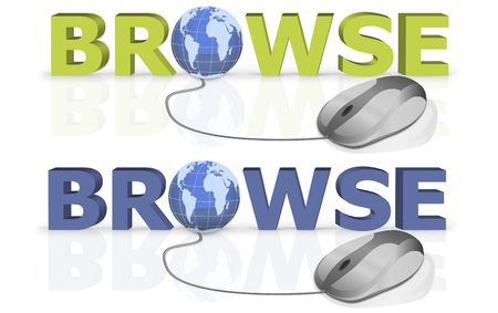 browse the world by a mouse click Stock Photo - 6583661