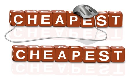 cheap cheaper cheapest bargain offer retail promotion Stock Photo - 6969009
