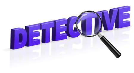 holmes: detective investigation information secrets 3D word text
