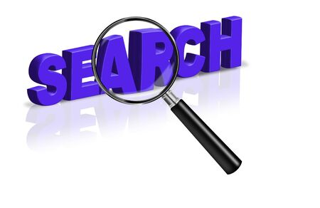 search find information detective research 3D button icon explore discover Stock Photo - 6969003