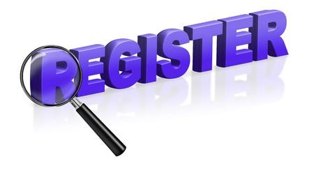 internet site registration register button 3D text Stock Photo - 6969036