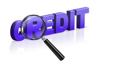 online credit button account debit 3D text Stock Photo - 6969016