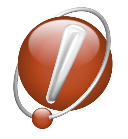 exclamation mark !attention important red 3D icon alart solution beware Stock Photo - 7147009