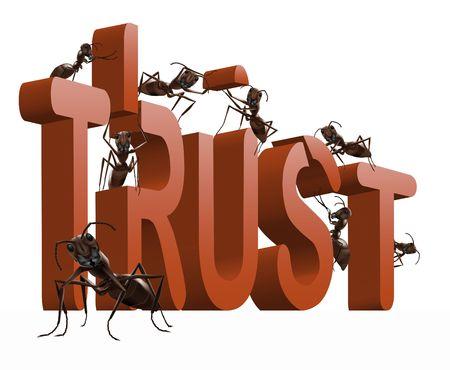 onestà: costruzione di fiducia o di onest� di fiducia e di rispetto  Archivio Fotografico