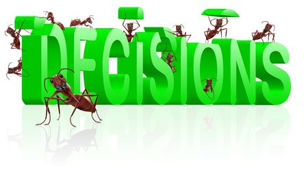 making decisions make choice choose direction yes or no decide initiative Stock Photo - 7790389