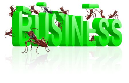 ants building business in word make your company Stock Photo - 7790384