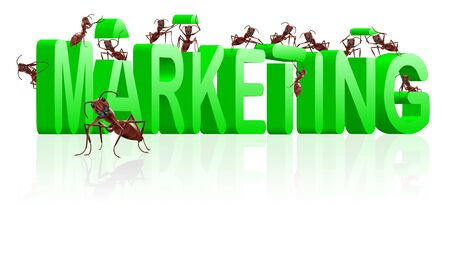 targetting: marketing or market strategy building positioning and targetting product towards clients Stock Photo