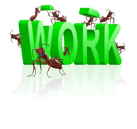 work working or career job and employment concept Stock Photo - 7790400