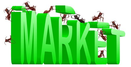 buisiness: market building marketing strategy buisiness target green text