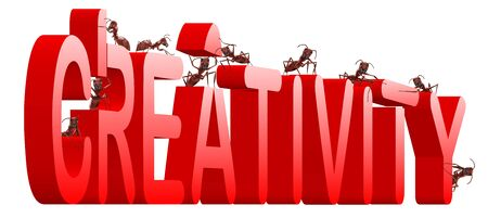 creativity build your innovation create your vision ants building word Stock Photo - 7790474