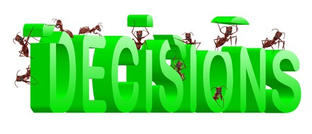 making decisions make choice choose direction yes or no decide initiative green text Stock Photo - 7790487