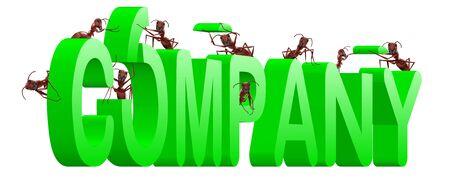 ants building company  brand com Stock Photo - 7790493