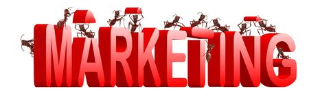 positioning: marketing or market strategy building positioning and targetting product towards clients Stock Photo