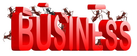 ants building business in word make your company photo