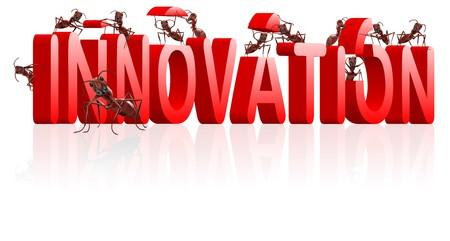 Innovationsfähigkeit Creat erfinden oder Erfindung Innovation Kreativität führt zur Entdeckung der neues Produkt entwickeln