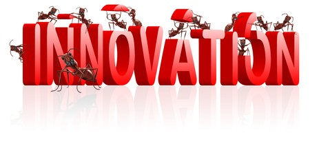 innoveren: innoveren creat uitvinden of uitvinding innovatie creativiteit leidt tot ontdekking van nieuw product ontwikkelen Stockfoto
