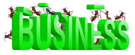 ants building business in word make your company Stock Photo - 7790511