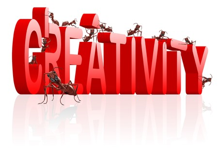creativity build your innovation create your vision ants building word photo